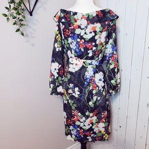 BANANA REPUBLIC | FLOWERED FLOWY MID LENGTH DRESS